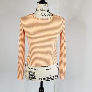 TRINA TURK▪'Alfie' cropped, striped citrus top
